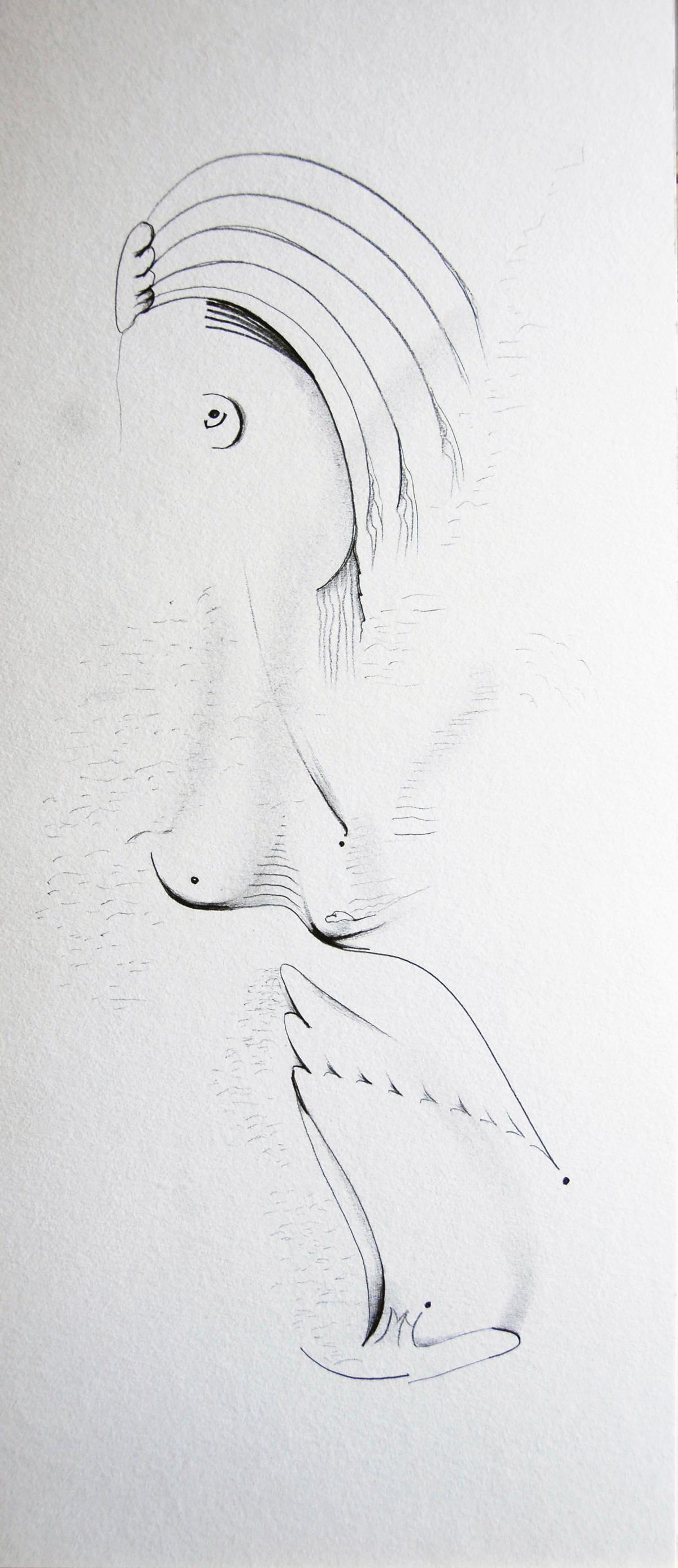 159 - MARIANNE crayon - 20 x 50