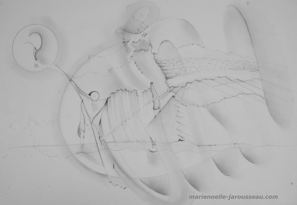194 - REVES DE MER - crayon - 29,7 x 42-