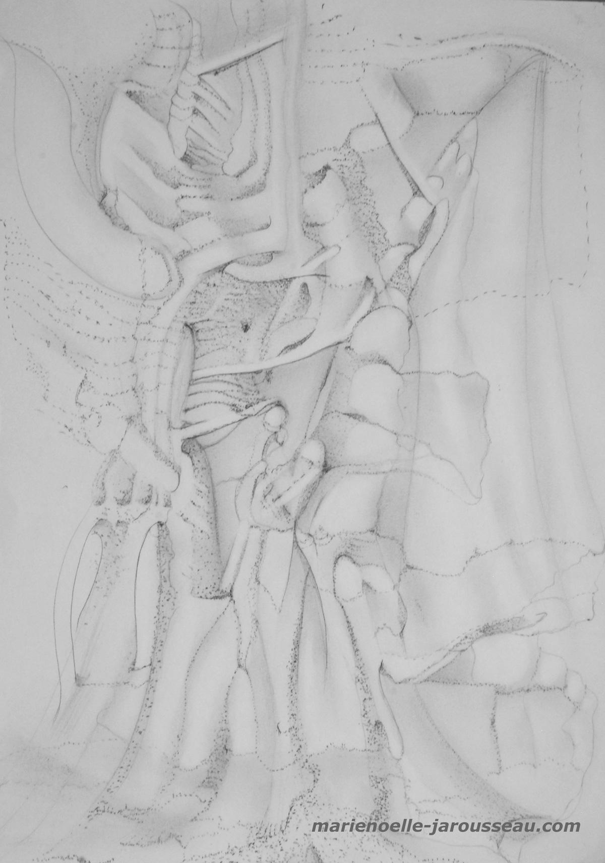 207 - CORPS HUMAINS - crayon - 29,7 x 42