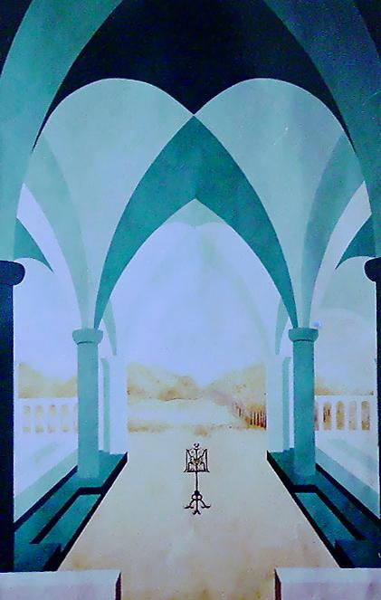 40 - CLOITRE - Mixte - Décor peint - 100 x 170