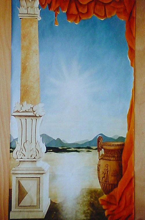 45 - DECOR EGYPTIEN - Mixte - Décor peint - 100 x 170