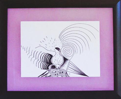 9 - EMERGENCE  - feutre sur papier- 54,5 x 67