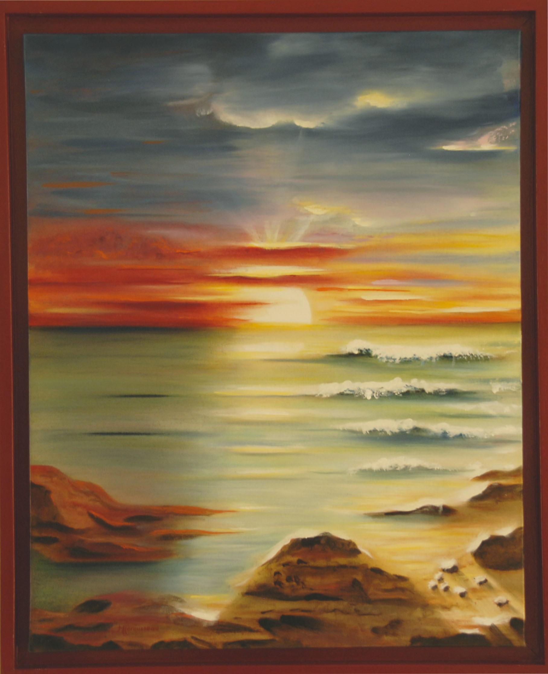 96 - SOLEIL VERT - Huile - 65 x 81