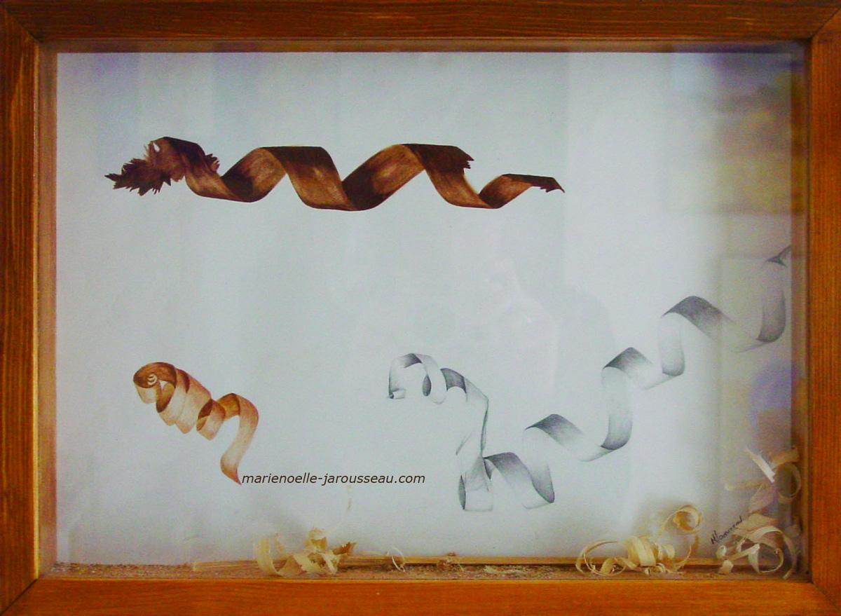 COPEAUX - crayon & aquarelle - 33 x 45