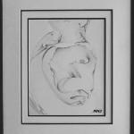 121 - LE TETARD -crayon- 37 x 47