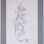 18 - FLEUR D'EPIS -crayon de bois - 42 x 54