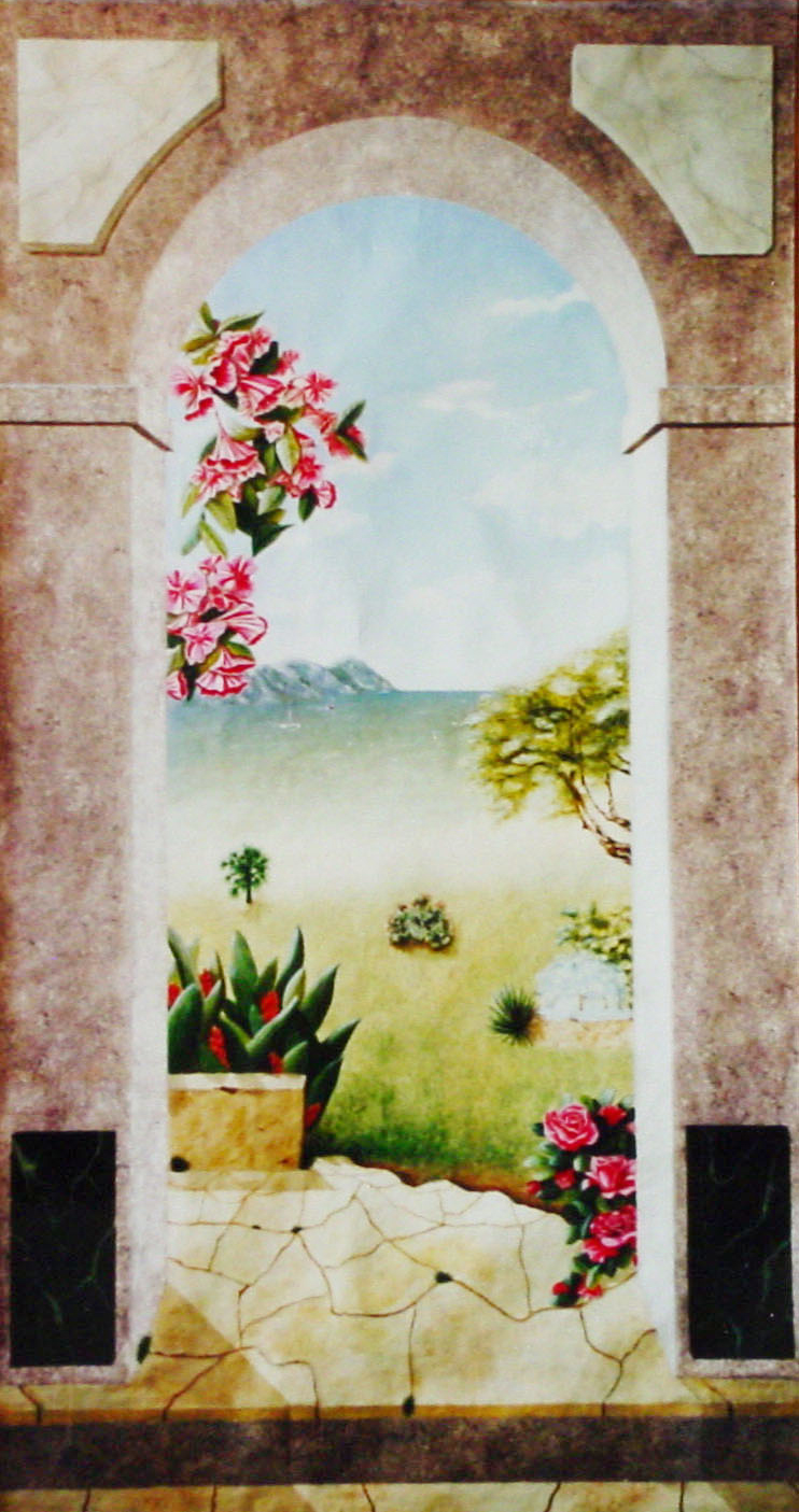 35 - LES ILES - Mixte - Décor Peint - 100 x 170