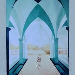 40 - CLOITRE - Décor peint - Acrylique - 100 x 170