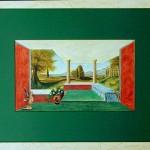 43 - INTERIEUR GREC - Aquarelle - 67 x 87