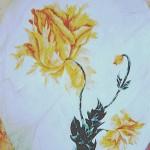 49 - MARQUETTERIE - Faux marbre à l'huile sur papier - 100 x 170