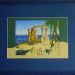 52 - TEMPLE EGYPTIEN - Acrylique - 67 x 87