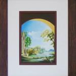 53 - PAYSAGE ROMAIN - Acrylique - 70 x 85