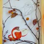 POMME - Composition - aquarelle & crayon - 33 x 45