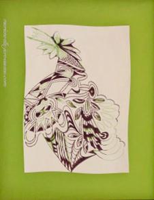 10 - BIZARRE-1 Feutre sur papier - 54,5 x 67 - Fév 1993
