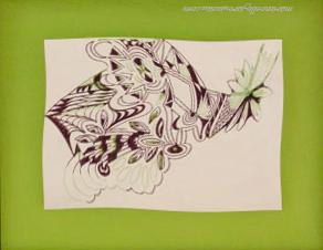 10 - BIZARRE-3 Feutre sur papier - 54,5 x 67 - Fév 1993