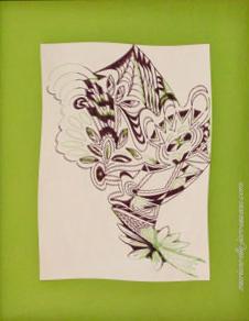 10 - BIZARRE-4 Feutre sur papier - 54,5 x 67 - Fév 1993