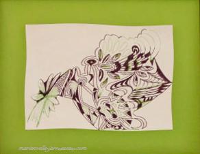 10 - BIZARRE- Feutre sur papier - 54,5 x 67 - Fév 1993
