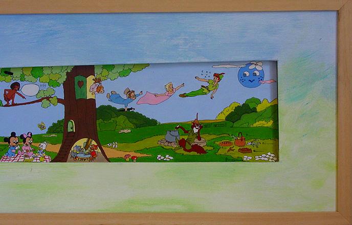 41-FRESQUE-DISNEY-Web-(détail-droit)--acrylique-sur-papier--34-x-143---janvier-1995