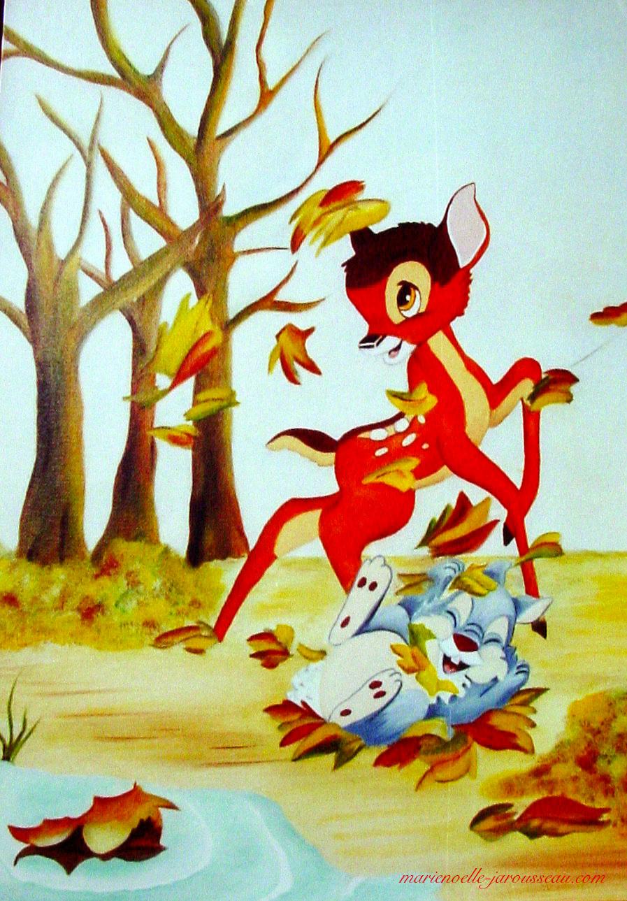 Bambi et l'automne
